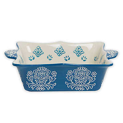 Baum Tapestry Square Oven to Table Bake/Serve Dish Blue