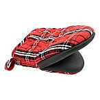 Plaid Neoprene Mini Oven Mitt in Red