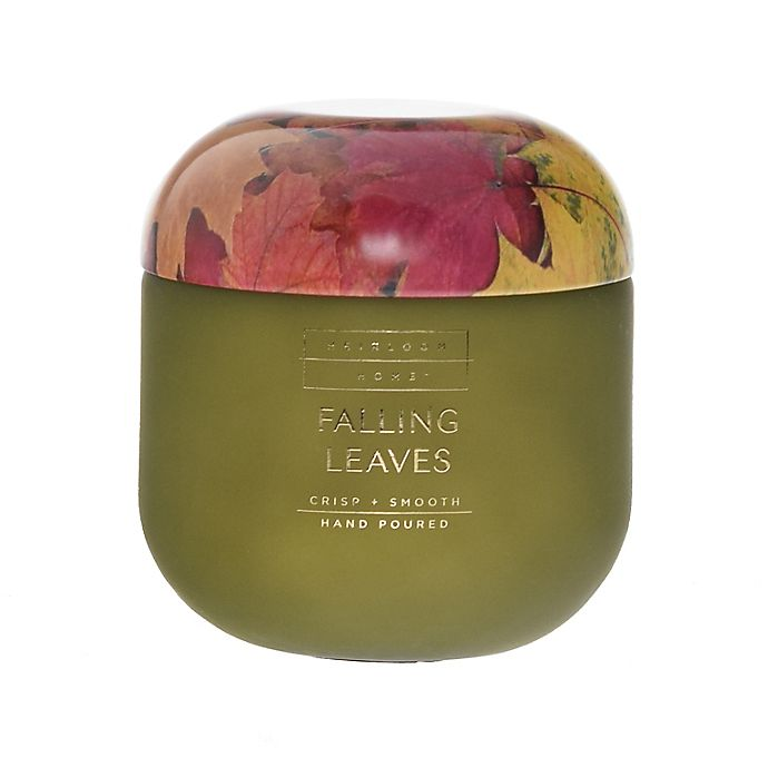 Alternate image 1 for Heirloom Home™ Falling Leaves 14 oz. Jar Candle with Metal Lid