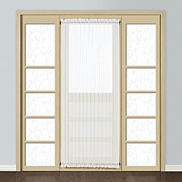 Monte Carlo Sheer Voile Rod Pocket Door Curtain Panel