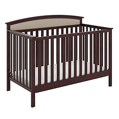 Graco® Mackenzie 5-in-1 Upholstered Convertible Crib with Reversible Headboard in Sand