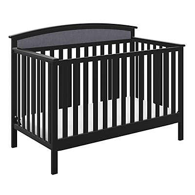 Graco® Mackenzie 5-in-1 Upholstered Convertible Crib with Reversible Headboard in Grey/Black