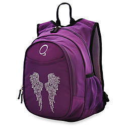 O3 Kids All-in-One Backpack with Cooler in Bling Rhinestone Angel Wings