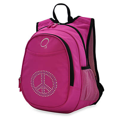 O3 Kids All-in-One Backpack with Cooler in Bling Rhinestone Peace Sign