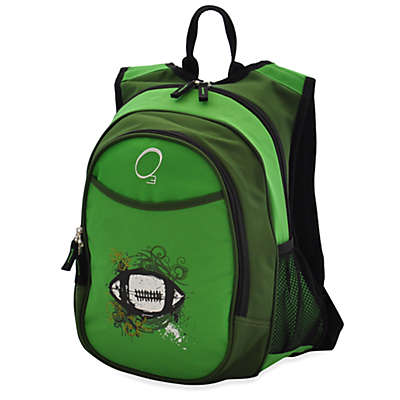 O3 Kids All-In-One Backpack with Cooler in Green Football