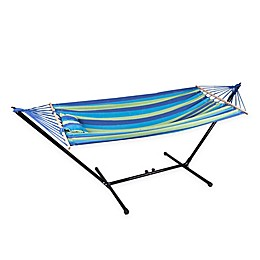 Stansport® Cayman 79-Inch Hammock with Stand in Blue/Green