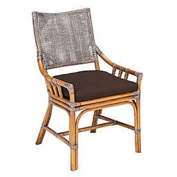 Safavieh Donatella Rattan Accent Arm Chair in Brown