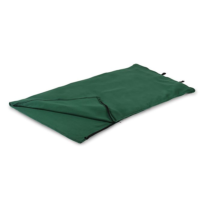 Alternate image 1 for Stansport® Fleece Adult 75-Inch Sleeping Bag in Green