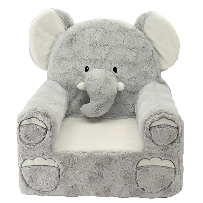 Alternate image 1 for Sweet Seats® Plush Elephant Chair in Grey