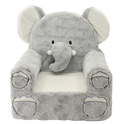 Sweet Seats® Plush Elephant Chair in Grey