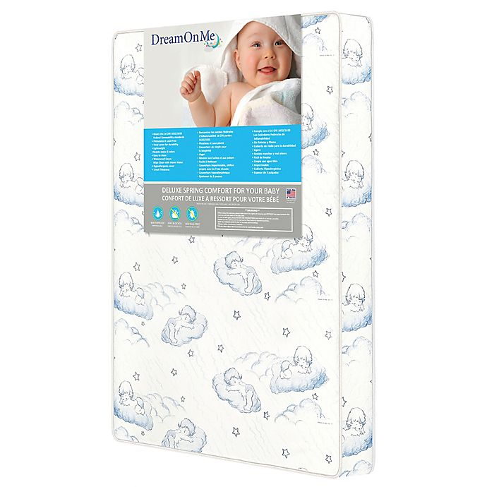 Alternate image 1 for Dream On Me Sweet Dreams 3-Inch Spring Coil Portable Crib Mattress