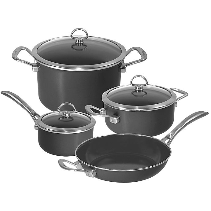 Alternate image 1 for Chantal® Copper Fusion® Carbon Steel 7-Piece Cookware Set in Oynx