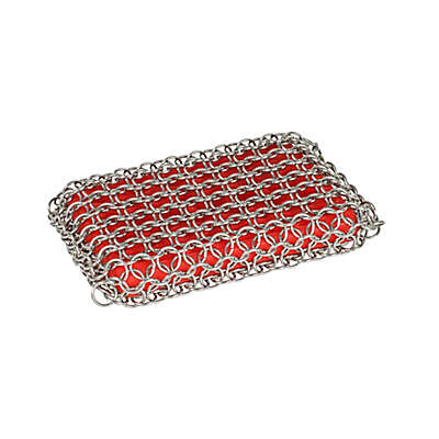 Lodge Chainmail Scrubbing Pad in Red