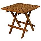 Teak Folding Deck Table in Square