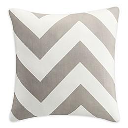Clifton Chevron Square Throw Pillow in Grey
