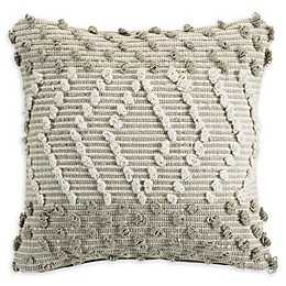 Clifton Woven Knot Square Throw Pillow in Natural