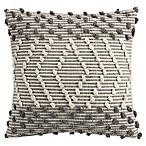 Clifton Woven Knot Square Throw Pillow in Grey
