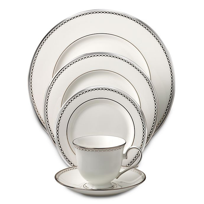 Alternate image 1 for Lenox® Pearl Platinum™ Dinnerware Collection