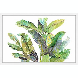 Marmont Hill Banana Leaves Top 12-Inch x 18-Inch Framed Wall Art