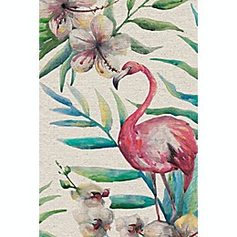 Marmont Hill Floral Flamingo Canvas Wall Art Collection