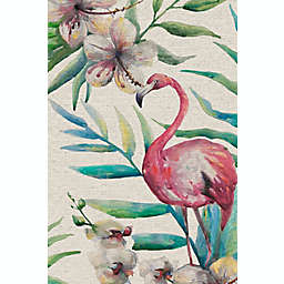 Marmont Hill Floral Flamingo 24-Inch x 16-Inch Canvas Wall Art