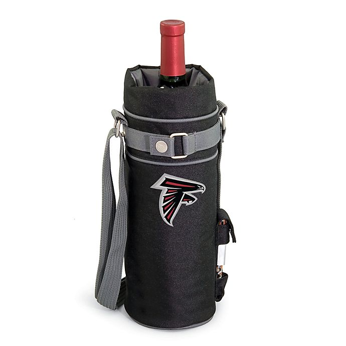 Alternate image 1 for Picnic Time Insulated Single Bottle Wine Sack - Atlanta Falcons