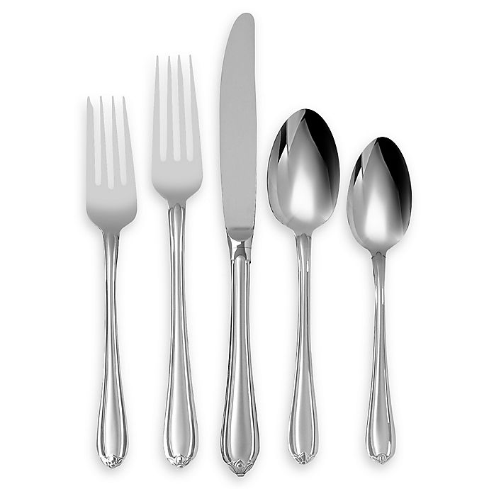Alternate image 1 for Lenox® Gorham® Melon Bud Frosted™ 5-Piece Flatware Place Setting