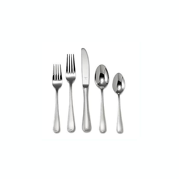 Alternate image 1 for Ribbon Edge Frosted™ Flatware 5-Piece Place Setting