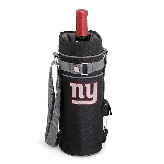 Alternate image 1 for Picnic Time Insulated Single Bottle Wine Sack - New York Giants