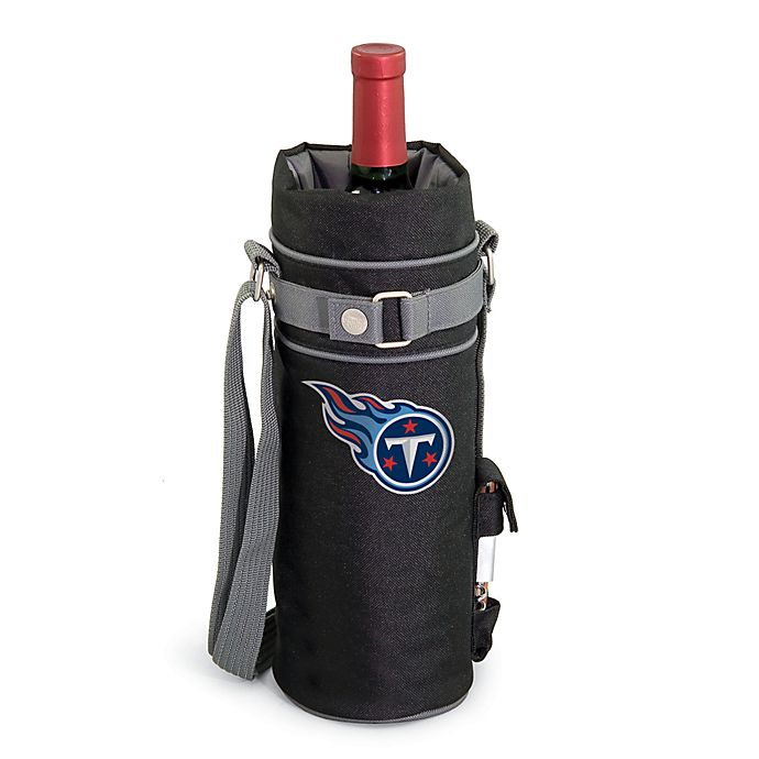 Alternate image 1 for Picnic Time Insulated Single Bottle Wine Sack - Tennessee Titans
