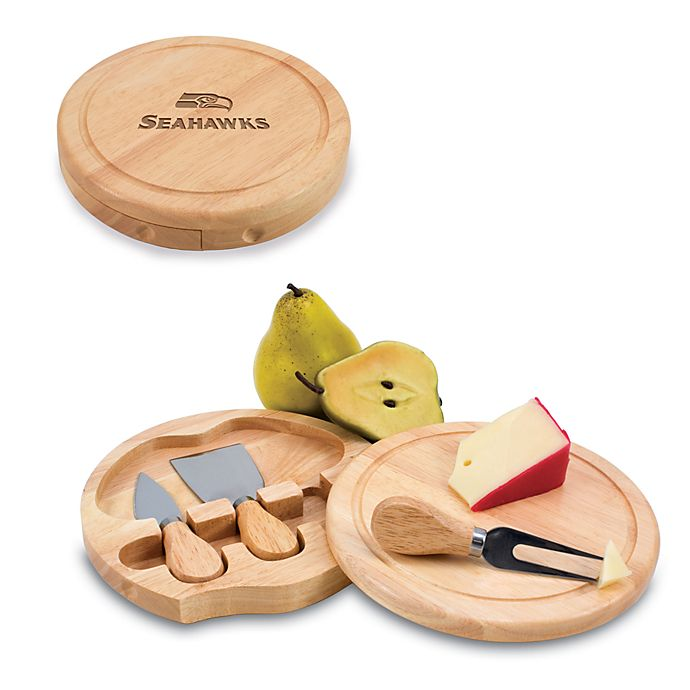 Alternate image 1 for Picnic Time® Seattle Seahawks Brie Cheese Board Set