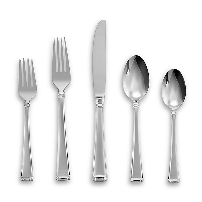 Alternate image 1 for Lenox® Gorham® Column Frosted™ 5-Piece Flatware Place Setting