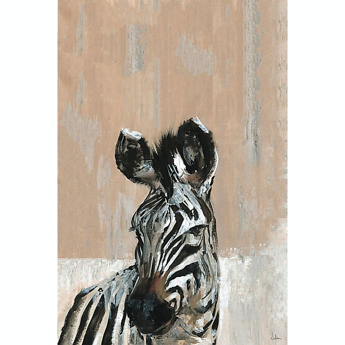Alternate image 1 for Marmont Hill Bonjour Zebra 18-inch x 12-Inch Canvas Wall Art