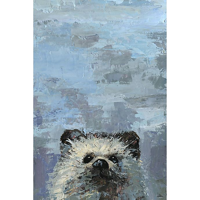 Alternate image 1 for Marmont Hill 'What up Raccoon' 36-Inch x 24-Inch Canvas Wall Art