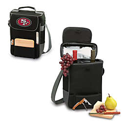 Picnic Time® San Francisco 49ers Duet Insulated 2-Bottle Wine and Cheese Tote in Black