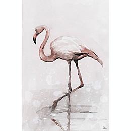 Marmont Hill Flamingo Splash 24-Inch x 16-Inch Canvas Wall Art