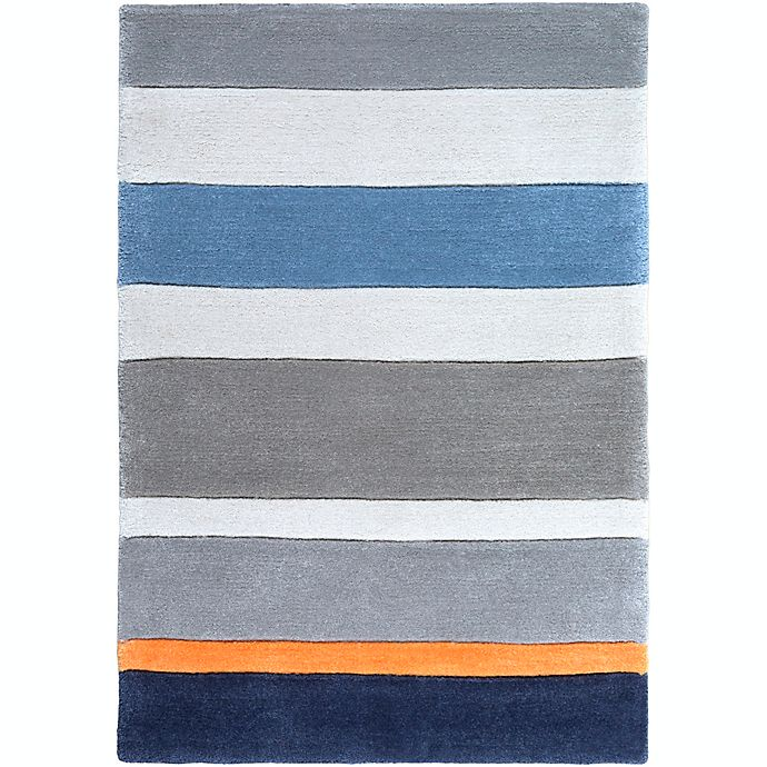Alternate image 1 for Surya Chic Striped  2' x 3' Handcrafted Accent Rug in Blue