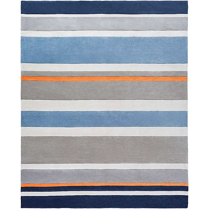 Alternate image 1 for Surya Chic Striped 8' x 10' Handcrafted Area Rug in Blue