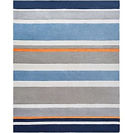 Surya Chic Striped Handcrafted Rug in Blue
