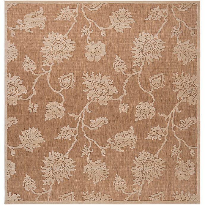 Alternate image 1 for Surya Portera Floral 7'6 Square Indoor/Outdoor Rug in Neutral