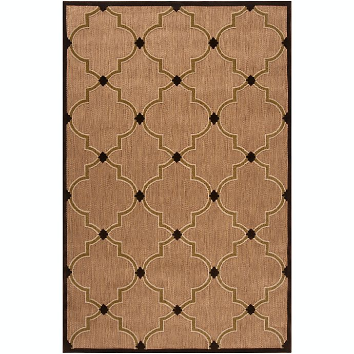 Alternate image 1 for Surya Portera Modern 5' x 7'6 Indoor/Outdoor Area Rug in Brown/Neutral