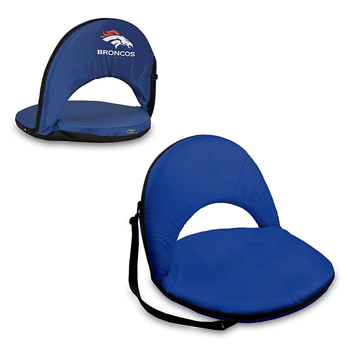 Alternate image 1 for Picnic Time® Denver Broncos Oniva Portable Reclining Seat in Navy Blue