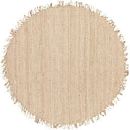 Surya Jute Bleached Natural 8' Round Rug in Cream