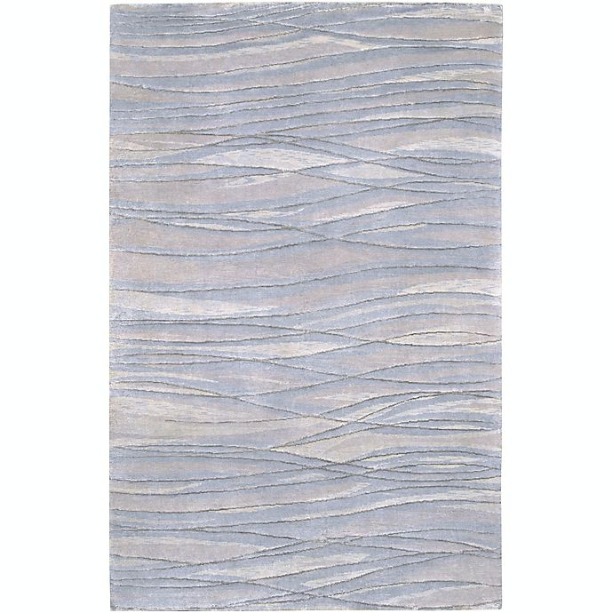 Alternate image 1 for Surya Shibui 9' x 13' Hand-Knotted Area Rug in Blue/Neutral