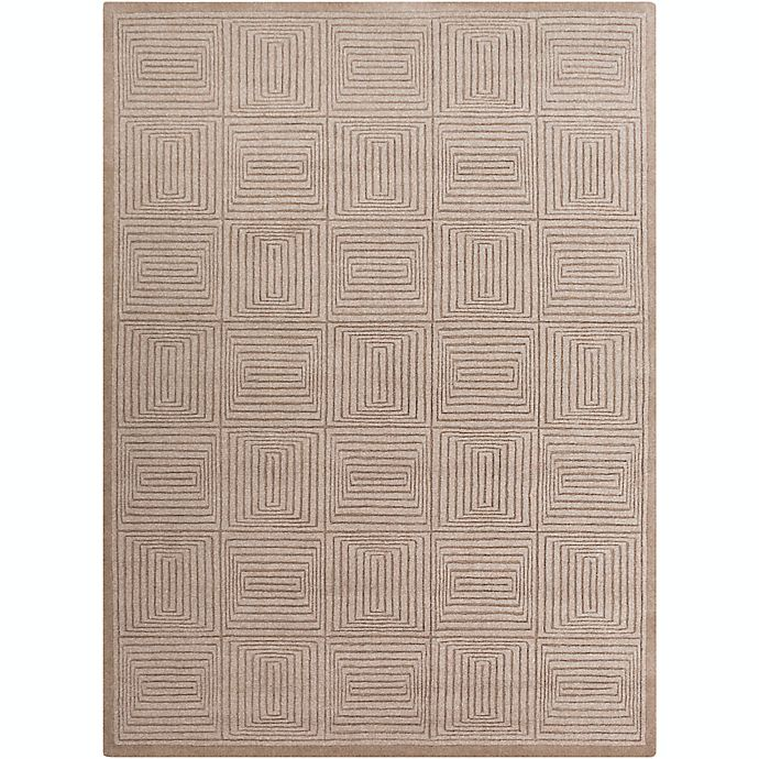 Alternate image 1 for Surya Mystique Solid Geometric 8' x 11' Area Rug in Neutral