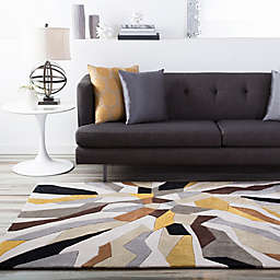 Surya Cosmopolitan Abstract Rug in Lime/Ivory