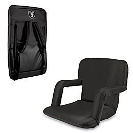 Picnic Time Portable Ventura Reclining Seat - Oakland Raiders (Black)