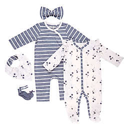 Jessica Simpson 6-Piece Knit Layette Gift Set in White/Sand