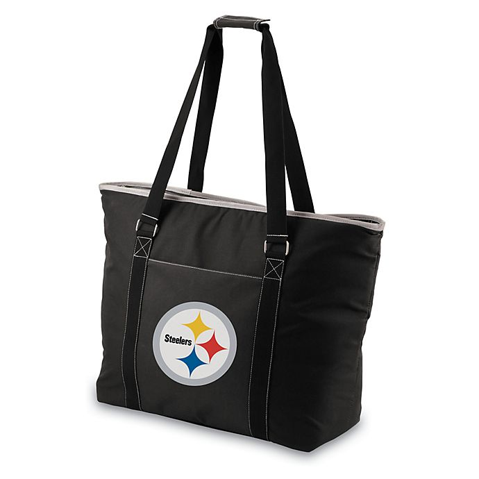 Alternate image 1 for Picnic Time® Pittsburgh Steelers Tahoe Insulated Cooler Tote in Black