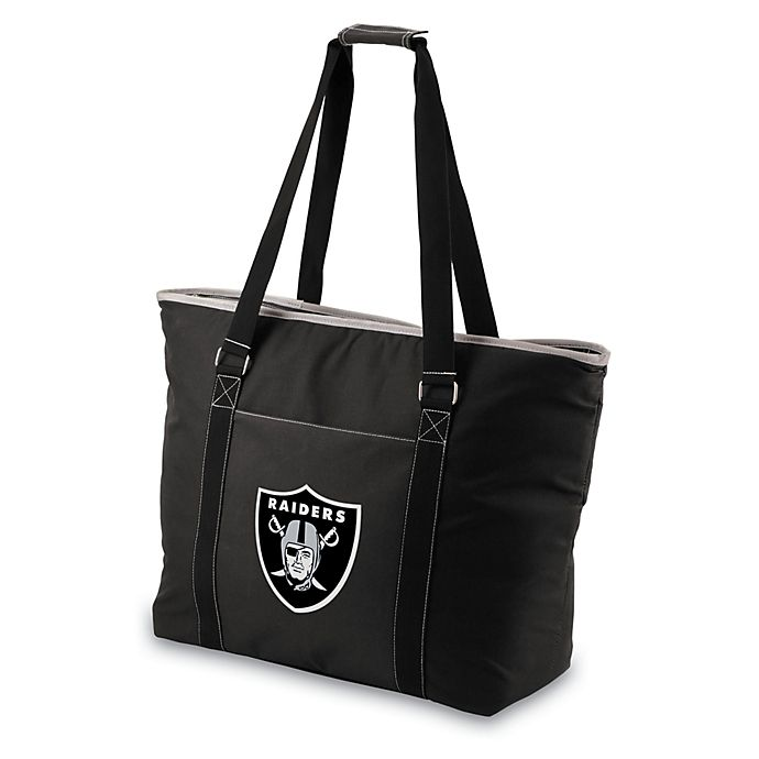 Alternate image 1 for Picnic Time® Tahoe Oakland Raiders Insulated Cooler Tote in Black
